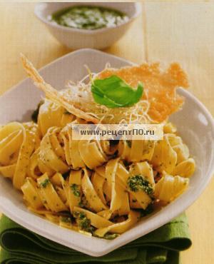 Фотография блюда по испански - Спагетти с брокколи