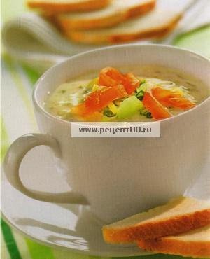 Фотография блюда по испански - Холодный суп из йогурта и огурцов