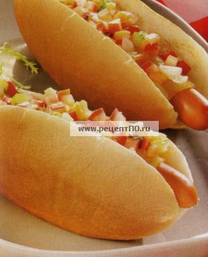 Фотография блюда по испански - Хот дог с сыром