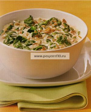 Фотография блюда по испански - Зелёный суп со шпинатом