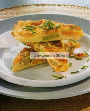 Фотография блюда по испански - Сырный пирог с луком