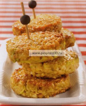 Фотография блюда по испански - Овсяные котлеты с карри