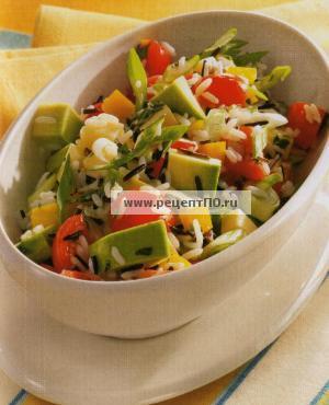 Фотография блюда по испански - Салат из риса и авокадо