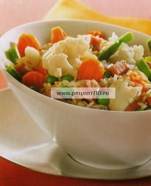 Фото готового блюда - Рис с овощами
