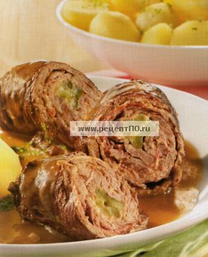 Фотография блюда по испански - Мясной рулет с беконом