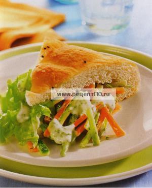 Овощной бутерброд по испански