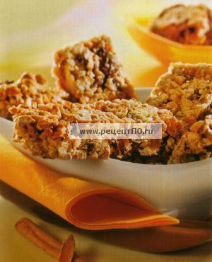 Фото готового блюда - Батончики мюсли с сухими фруктами