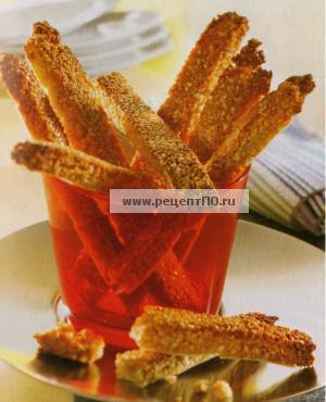 Фото готового блюда - Кунжутные палочки с мёдом