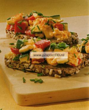 Фотография блюда по испански - Омлет из перца и кабачков