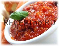 """Овощной соус-заготовка """"По-домашнему"""" - простой рецепт"""