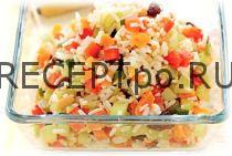 Салат с рисом и фруктами по-японскому рецепту